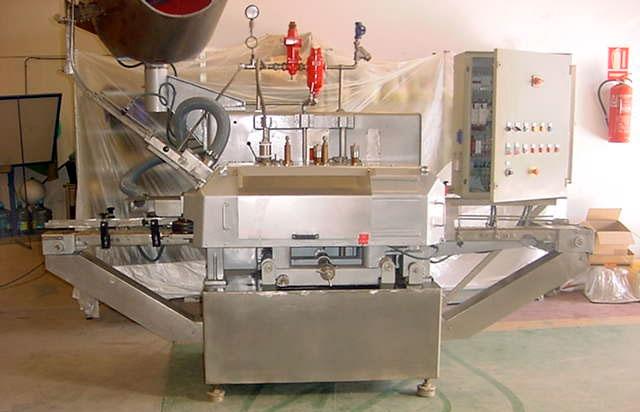 Cerradora para frascos con tapa desde 45 mm a 98 mm
