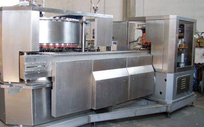Grupo llenadora de vacío y cerradora de latas redondas de 73 mm de diámetro
