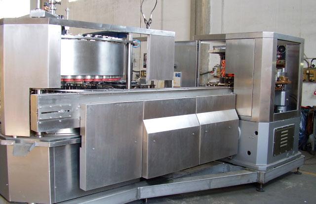 Grupo llenadora de vacío y cerradora de latas de 73 mm de diámetro
