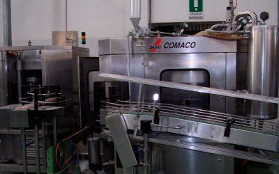 Grupo llenadora de vacío y cerradora de latas de 153 mm de diámetro